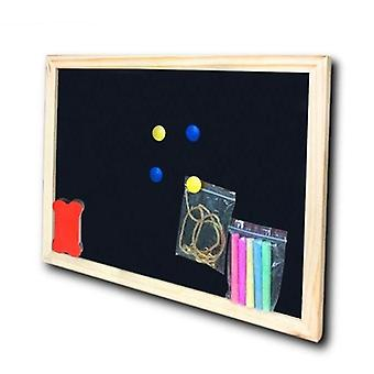 Dry Erase Magnetic Wooden Black Board, Chalk Board