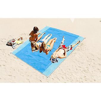 Taşınabilir Mavi Plaj Paspas Anti-slip Kum Paspaslar Halı Açık Floding Mat Plaj için
