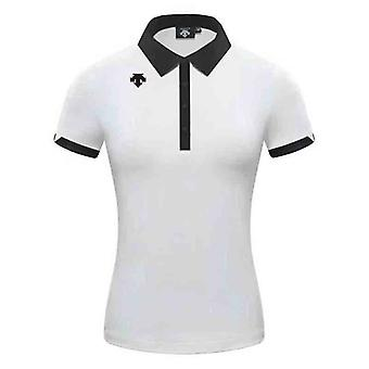 Summer Ladies Couple Golf T-shirt Confortável e Respirável Golf T-shirt