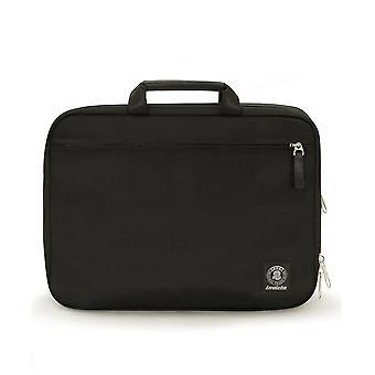 نظمت Invicta مكتب حقيبة, أسود, فنى النسيج, لابتوب جيب تصل إلى 15.6;