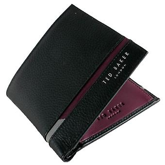 Ted Baker Sailbot Billfold and Coin Wallet - Black