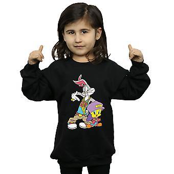 Looney Tunes Girls Bugs ja Tweety Hip Hop Collegepaita