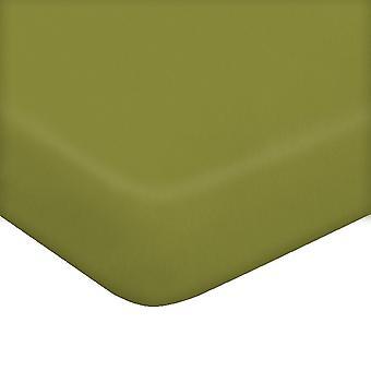 Folha com Cantos Duas Cores Verdes em Algodão, L170xP200 cm