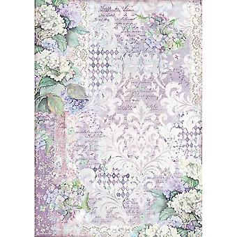 Stamperia Papier ryżowy A3 Hortensia Tapety