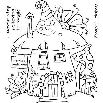 Woodware Klare Singler Fairy House 8 i x 2.6 i Stempel