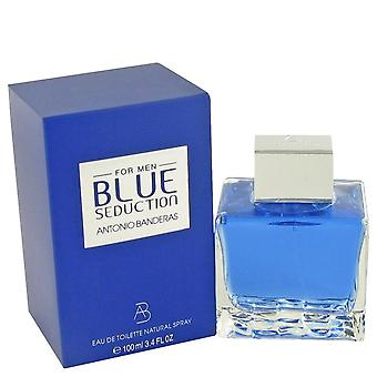 Blauwe verleiding Eau De Toilette Spray door Antonio Banderas 3.4 oz Eau De Toilette Spray