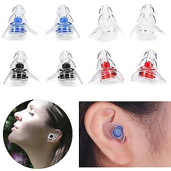 1Pair Portátil Silicone Ear Plugs Sound Insulation Ear Protection Ear Plugplugs Anti Noise Snoring Sleeping Plugs for Noise Reduction