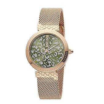 Nur Cavalli Animalier japanische Bewegung Damen Armband Uhr in grünem Zifferblatt