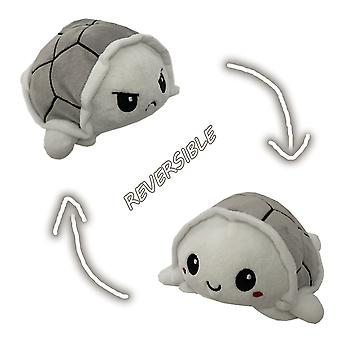 Reversible New Type plush toys flip stuffed turtle reversible doll flip toys Cute Simulation Plush Toys