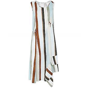 Crea Concept Stripe Linen Blend Knee Length Dress