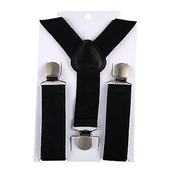 Elastic Leather Suspenders Baby 3 Clips Braces
