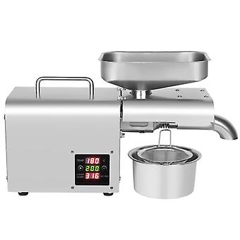 Stainless Steel Oil Press, Cold Machine, Home Presser, Peanut Flaxseed Olive