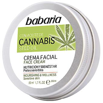 Babaria Cannabis Facial Cream Nutrition and Wellness 50 ml