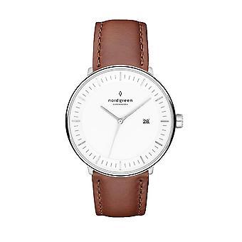 Nordgreen Ph40silebrxx White Dial Unisex Analog Watch