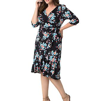 Kiyonna | Flirty Flounce Wrap Dress
