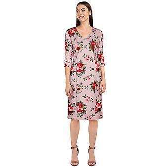 Chic Star Plus Size Lápiz Vestido Retro en Rosa / Floral