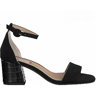 Zwarte elegante midden hiel sandalen