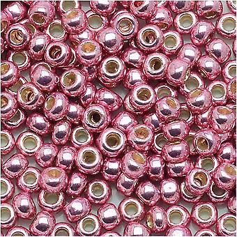 Toho Round Seed Beads 8/0 #PF553 - Final Permanente Galvanizado Rosa Lila (8g)