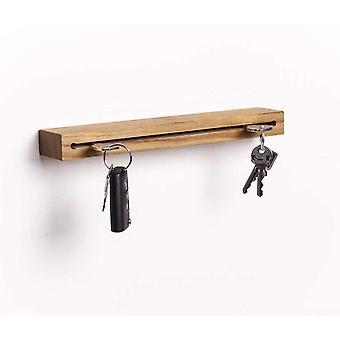 FengChun Schlsselbrett Holz mit Ablage I Nuss - Schlsselhalter modern I Wanddekoration aus Holz