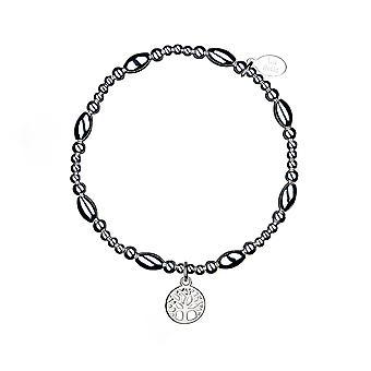 Bracelet d'empilement Tree of Life - 17.5cm - Argent - Cadeaux bijoux pour femmes de Lu Bella