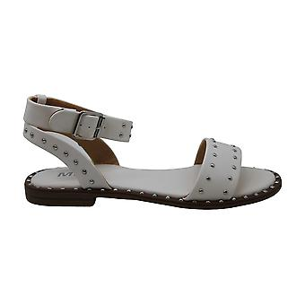 Mia Womens FANNIE Leather Open Toe Casual Flat Sandals