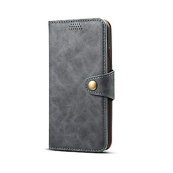 Wallet leather case card slot for huawei mate20pro dark gray no2513