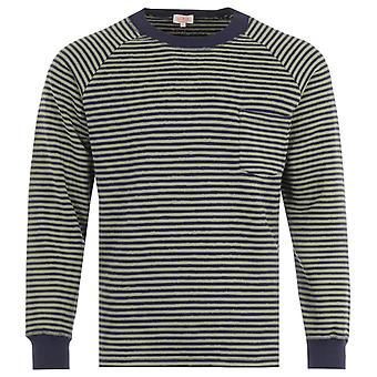 Armor Lux Raglan Heritage Stripe Sweatshirt - Navy & Fern