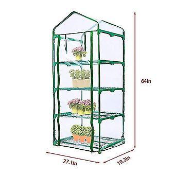 4-tasoinen vetoketjuoven kasvihuoneen vaihtokansi 27 x 19 x 64 tuumaa kirkas pvc x7044