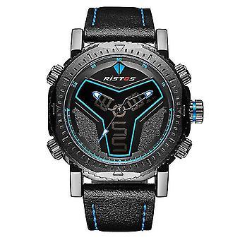 Casual Ristos 9341 Digital Male Wristwatch LED Military Quartz Movement Watch