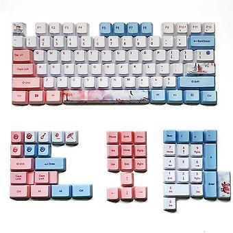 Mechzone 73/125 toetsen drie levens keycap set oem profiel pbt sublimatie keycaps voor mechanische toetsenborden