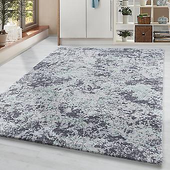 Pila corta sala de estar alfombra diseñador vintage alfombra manchas motivo crema gris