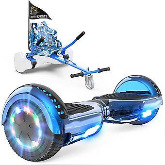 Right Choice Hoverboard Weihnachtsgeschenk für Kinder selbst balancing Scooter-LED Räder-Bluetooth Lautsprecher mit einstellbaren Hoverkart