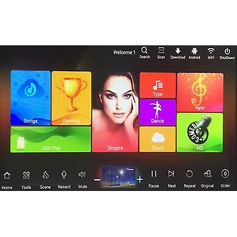 Capacitivo Screen Karaoke Home System, Hdd Chinese English Songs, Cloud Songs,