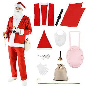 Ensemble de costumes de Père Noël + accessoires – Tenue de Noël