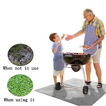 Large Under Grill Mat Outdoor Use Lawn Terrace Barbecue Fireproof Mat