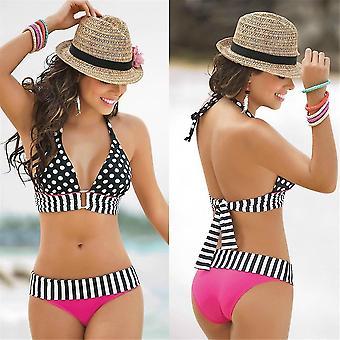 Traje de baño vintage vintage de cintura alta en bikini vintage de baño