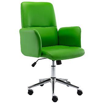 vidaXL مكتب كرسي الاصطناعية الجلود الخضراء