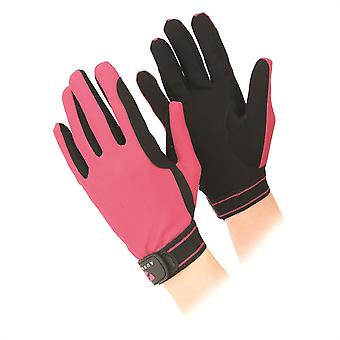 Aubrion Mesh Riding Gloves Airy Breathable Stretch Mesh Backs Reliable Grip