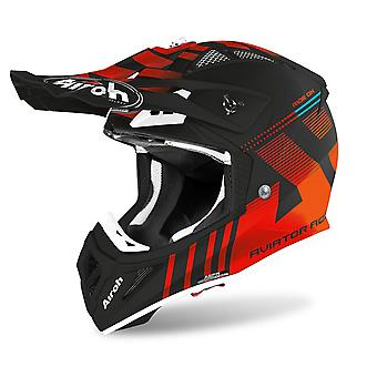 Airoh Aviator Ace Nemesi Off-Road Motocross ATV Helmet Matt Orange Black
