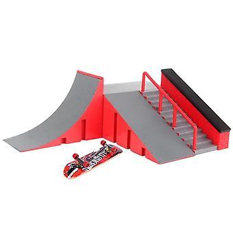 Fingerboard Skate Park Kit, Мини Фингер Борд Настольная Игра Рампа Трек Toy, Мини
