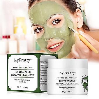 Muzxr-Hautpflegemasken Peelings Teebaum Ton Maske entfernen Akne Gesichtsmaske Anti schwarze Flecken Aufhellung Tiefenreinigung Schönheit Gesichtskosmetik Hautpflege