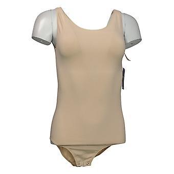 yummie Shaper L/XL Sleeveless Bodysuit w/snaps Beige 607672
