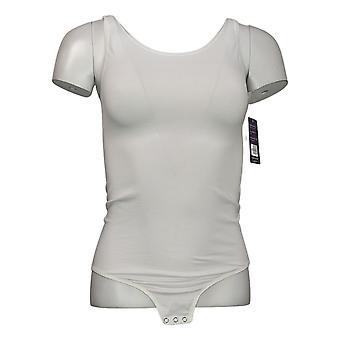 yummie Shaper L/XL Bodysuit sem mangas w/Snaps White 607672