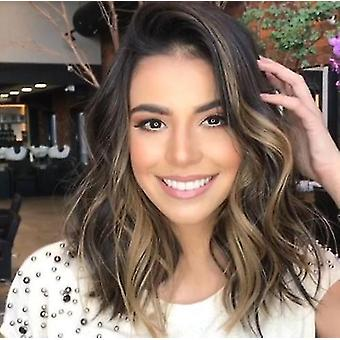 Ladies Short Curly Hair, Fluffy And Fashionable Short Wavy Wig, Which Looks Natural Like Real Hair,
