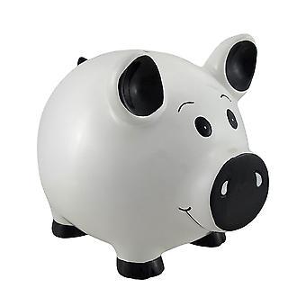 Hvit Piggy Coin besparelsene sparegrisen