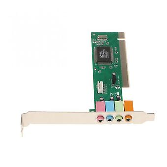 Aionyaaa Primary Sound Card Pci 8738 Integrated Sound Card Pci 5.1 Channel 3.5mm Surround Sound Card Interface Socket