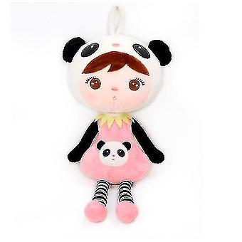 Stuffed doll baby girl gifts soft first baby doll plush dolls gift box pinkwhite sa8385