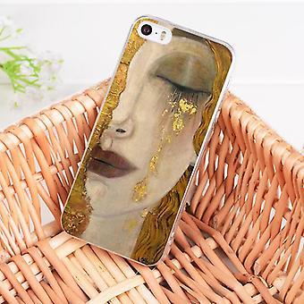 Peinture d'art belle femme or iPhone 13 12 Pro Max Mini