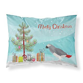 Pillowcases shams african grey parrot merry christmas fabric standard pillowcase