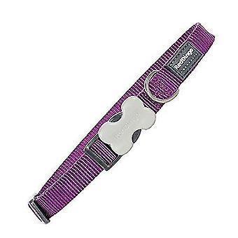 Pet leashes plain purple dog collar 12mm x 20-32cm xs